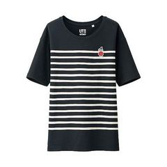 即決大きいサイズ3XL 新品 ユニクロ ムーミン リトルミィ ボーダーTシャツ ブラック