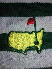 GOLF ゴルフ アメリカ マスターズ MASTERS ポロシャツ 半袖 Mサイズ グリーン ホワイト