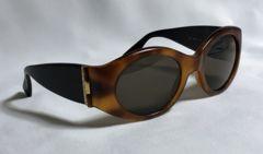 正規 ブルガリBVLGARI  サイドロゴ装飾 マッドカラーサングラス 茶×黒 眼鏡〇