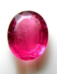 ■ピンクトルマリン■深いピンク色■オーバルカット4.08キャラ