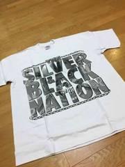 LA直輸入  silver&black  厚手Tシャツ  白ホワイト sizeXL