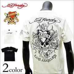Ed Hardy(エドハーディー)ラブキル刺繍Tシャツ 白 L[72kh05]