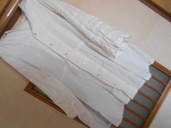 キューブシュガー*セーラー襟七分袖ふんわりブラウス白クリックポスト164