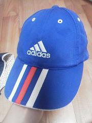 アディダスadidasブルー青キャップ帽子51〜54サイズ
