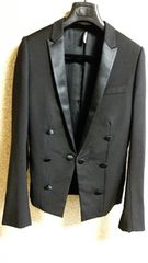 正規良 Dior Homme ディオールオム ナロースモーキングジャケット黒 最小38 スーツ