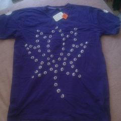 アミナコレクション*紫色絞り柄Tシャツ*新品未使用