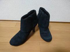 ショートブーツ スエード素材  S
