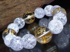守り本尊十二支梵字水晶§爆裂水晶数珠