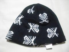 wb187 ROXY ロキシー ニット帽 内側フリース ブラック