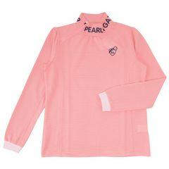 新品パーリーゲイツゴルフハイネックシャツピンク