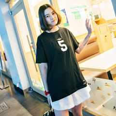 0913-606029大きいサイズ☆NO.5ダメージTシャツ☆ブラック