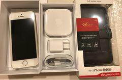 iPhone SE  ゴールド 64GB  未使用品  ブックケース付き