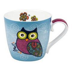 KONITZ Owls Blue 青いフクロウ マグカップ(B102)