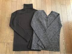 【JEANNEKE】タートルセーター V襟セーター 2点セット