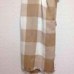 定価1500円◆ユニクロ◆ベージュ ボーダー ストール スカーフ