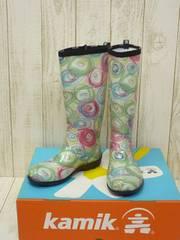 即決☆カミック 特価 W's レインブーツ [SQ] GRN/23cm 新品 長靴