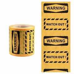 台湾文具Funtepeマスキングテープ警告5cm幅10メートル