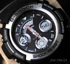 ≪Casioカシオ≫G-SHOCK アナデジ/AW-590-1A. 海外モデル