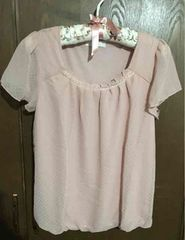 【any sis】ピンクブラウス裾バルーン