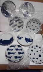 ツモリチサト 猫柄豆皿8枚 直径10