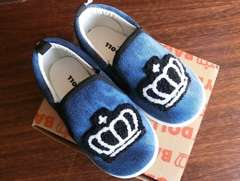 新品BABYDOLL☆15cm 王冠ワッペン スリッポン 靴 スニーカー ベビードール