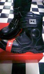 寅壱★[0074黒]長マジック安全靴25.5cm