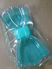 【新品】swimmerリボンの形*小物入れ(コバルトグリーン)
