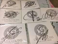 GENERATIONS 直筆サイン色紙7枚セット☆
