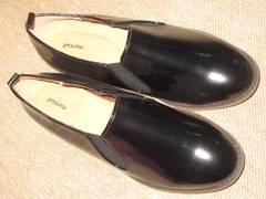 未使用☆おじ靴*レディース*フラットシューズ(ブラック)