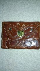ANNA SUI蝶々柄二つ折り財布