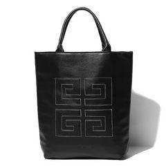 新品GIVENCHYジバンシー/ロゴ刺繍レザートート男女兼用