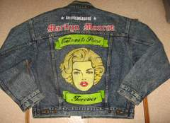 手描き マリリン・モンロー Marilyn Monroe Gジャン