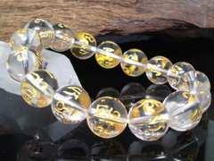 即決§六字真言水晶12ミリ§クリスタル数珠