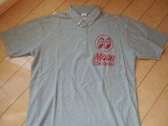 MOON EYES 半袖ポロシャツ XLサイズ グレー