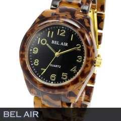 人気★べっ甲柄 ユニセックス 腕時計 OSD54BK