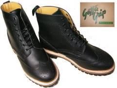 ゲッタグリップ ウィングチップ ブーツ8510BLカジュアルuk8.5