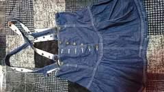 ハイウエストのデニムスカート