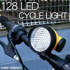 128灯 LED サイクルライト 自転車用LED照明 128LED自転車ライト