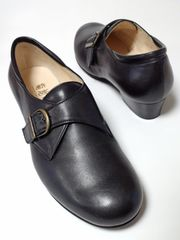 美品菊地の靴モンクストラップパンプスフォーマル冠婚葬祭通勤通学お仕事上品