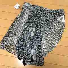 新品◆ナノユニバース◆アフガンプリント◆変形シフォンスカート
