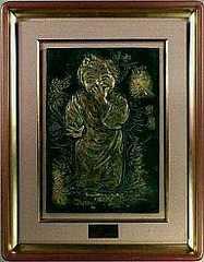 絵画 銅版画(版画ではありません) 北村西望『歡』文化勲章