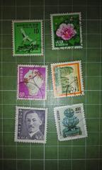 韓国1980年代切手6種類♪