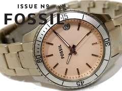 良品 FOSSIL フォッシル【美シンプル】コーデ映えする腕時計