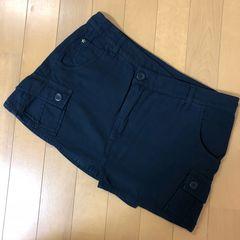 ニコル NICOLE ネイビー ミニスカート ラップスカート
