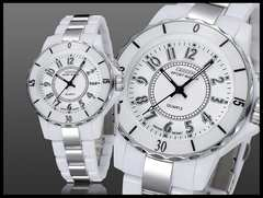 ◆送料無料◆新品♪OHSENデザイン腕時計ホワイト/白☆超軽量