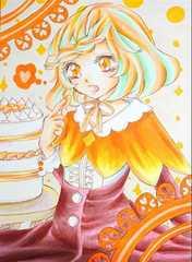 ロリータ系少女の生写真(オレンジ系)
