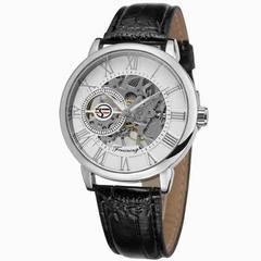 腕時計 メンズ腕時計 スケルトン 新品未使用 革ベルト