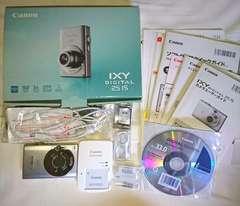 Canon デジカメ IXY DIGITAL 25IS シルバー 一式 メモリーカード バッテリー セット