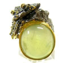 ◆即決◆ 未使用 天然プレナイト デザインリング 指輪 15号