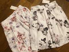 新品タグ有/未使用/花柄スカート2点set/まとめ売り